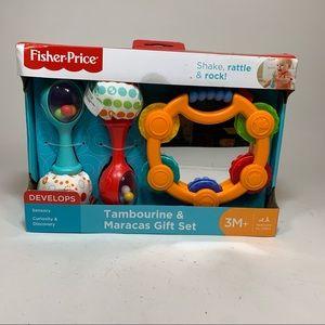 Fisher Price Baby Infant Tambourine Maracas Rattle